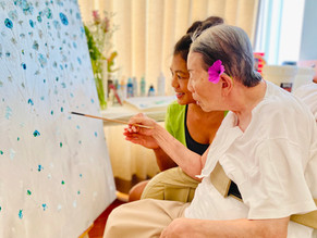 Painting with Mom