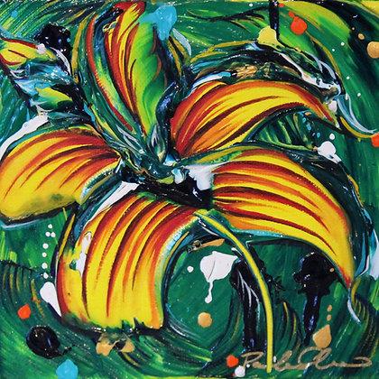 Original Mini Painting - 6x6 - Green