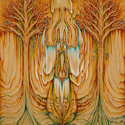Secret Life of Trees - 24x24 - Print on Wood