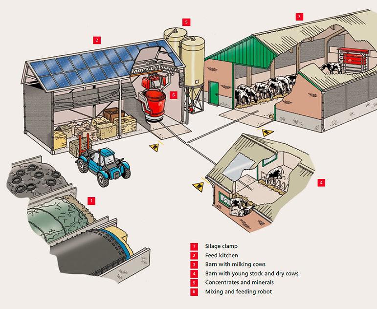 Lely Vector system layout
