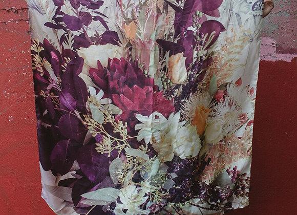 The Little Flower Shop Silk Bouquet Scarf