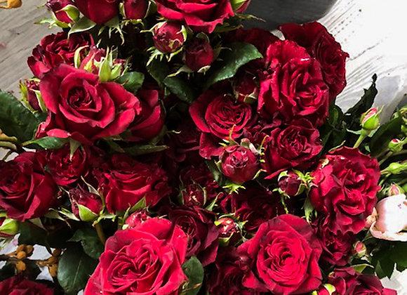 Red Rose Romance Garden Bouquet