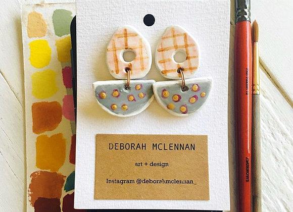Deborah McLennan Handmade Ceramic Earrings