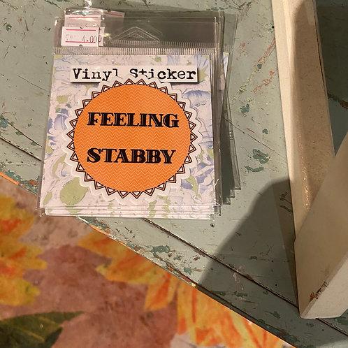 Sticker (feeling stabby)