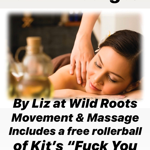 Wild Roots 60 Minute CBD Massage