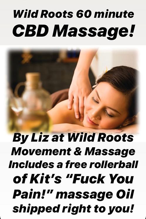 Wild Roots 60 Minute CBD Massage