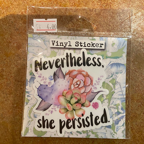 Sticker (nevertheless she persisted)