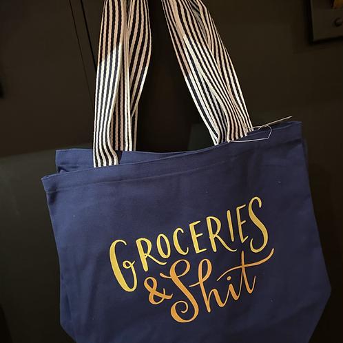Groceries & Shit Bag (Navy)