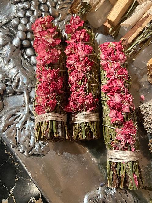 Blue Sage & Pink Larkspur Bundle