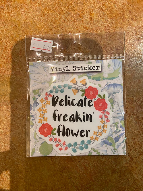 Sticker (delicate freaking flower)