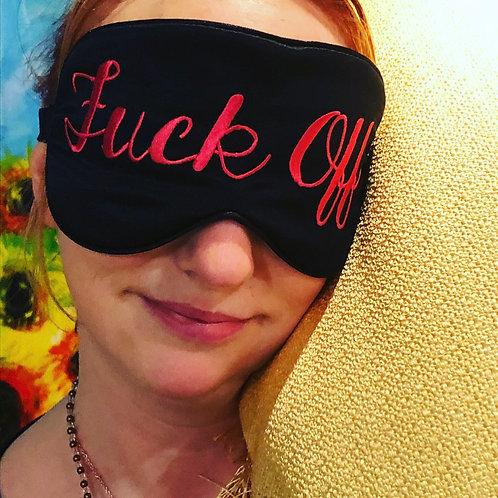 """""""Fuck Off!"""" Eye Mask with ear plugs"""