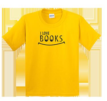 I Love Books - Yellow T-Shirt