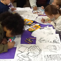 Worlds To Discover Festival Photo. Talee and friends - coloring