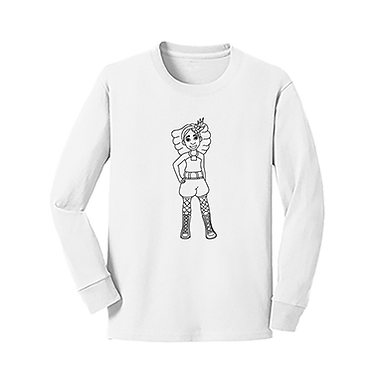 Talee Long Sleeve Coloring T-Shirt
