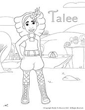 Worlds To Discover Talee Coloring Sheet