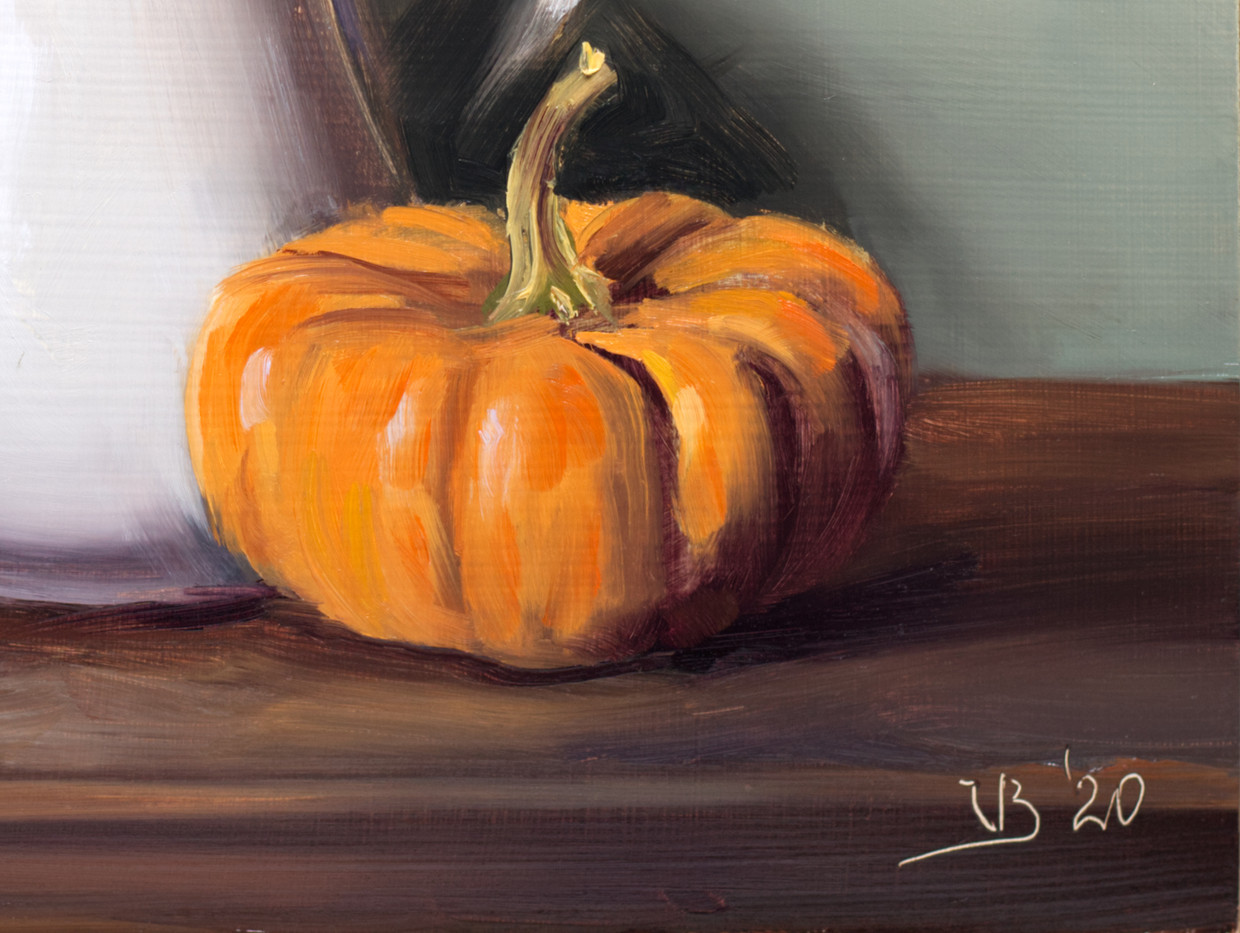 White Pitcher and Pumpkin_3