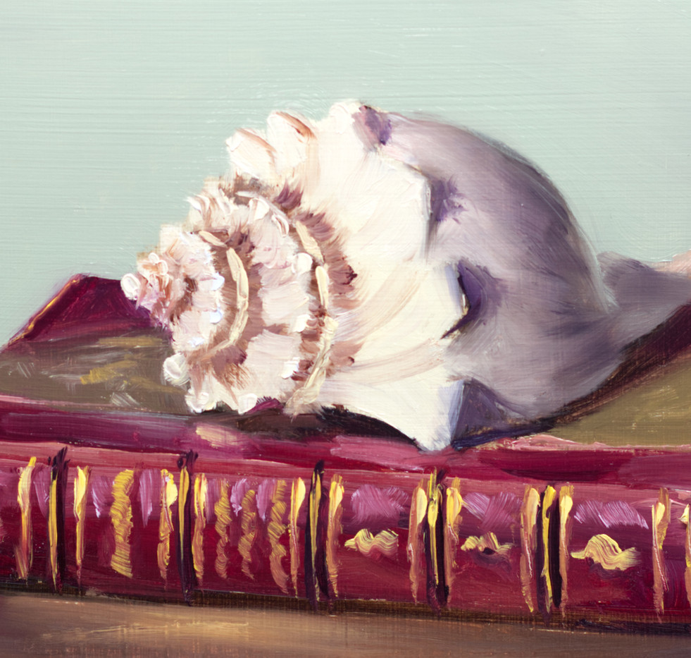 Antique Book and a Seashell_4