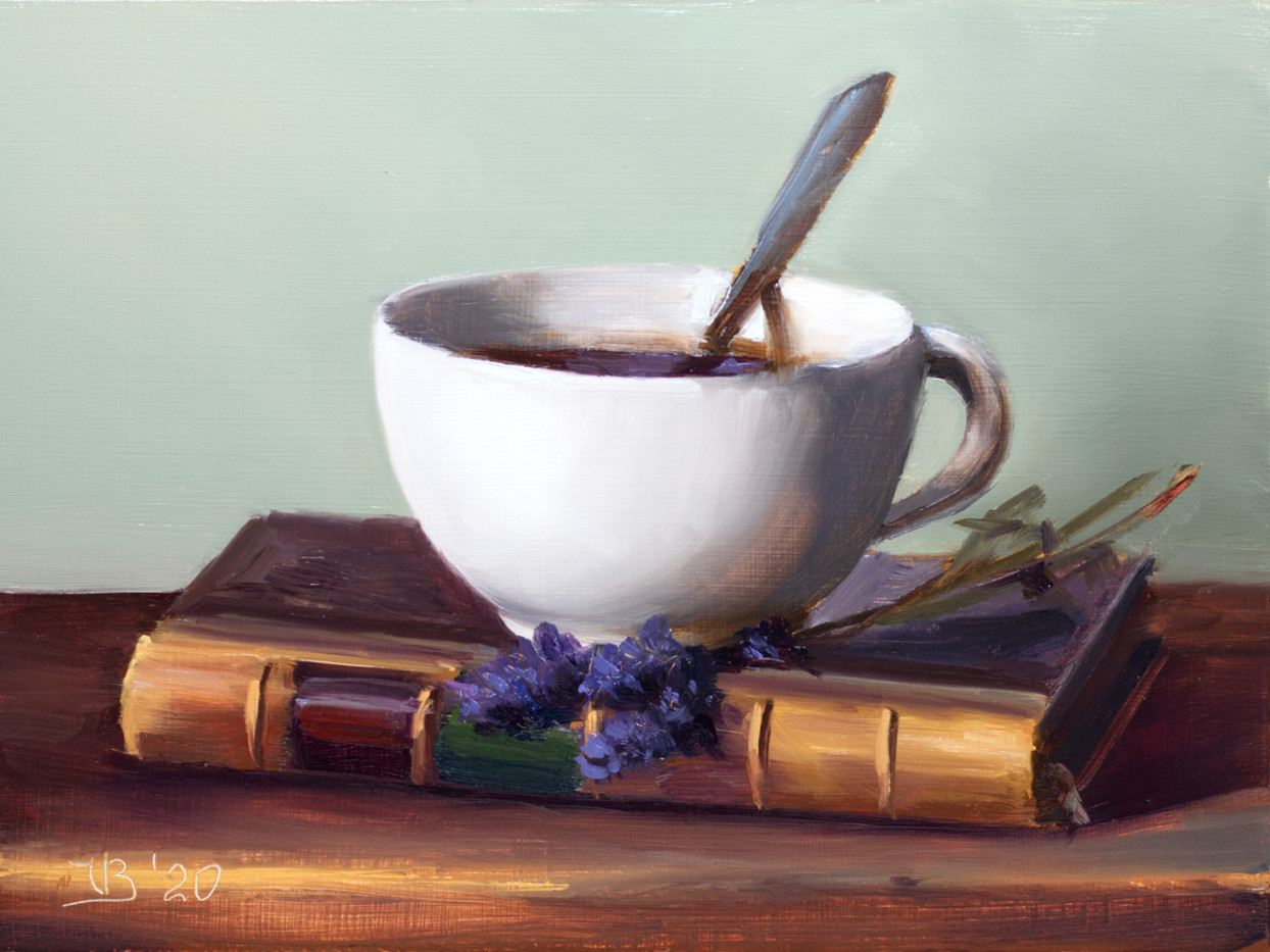 Coffee, Book and Lavender_1