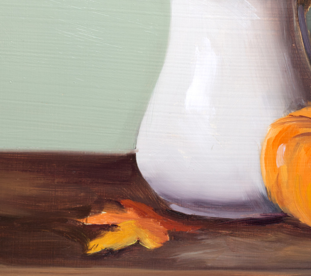 White Pitcher and Pumpkin_4