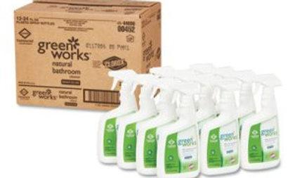 Clorox green works bathroom cleaner, 12 bottles