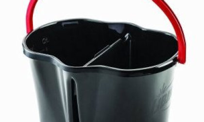 Libman 4 Gallon Bucket, 2 Compartments, Black