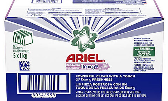 Ariel with Downy Freshness Powdered Laundry Detergent, 5 ct.