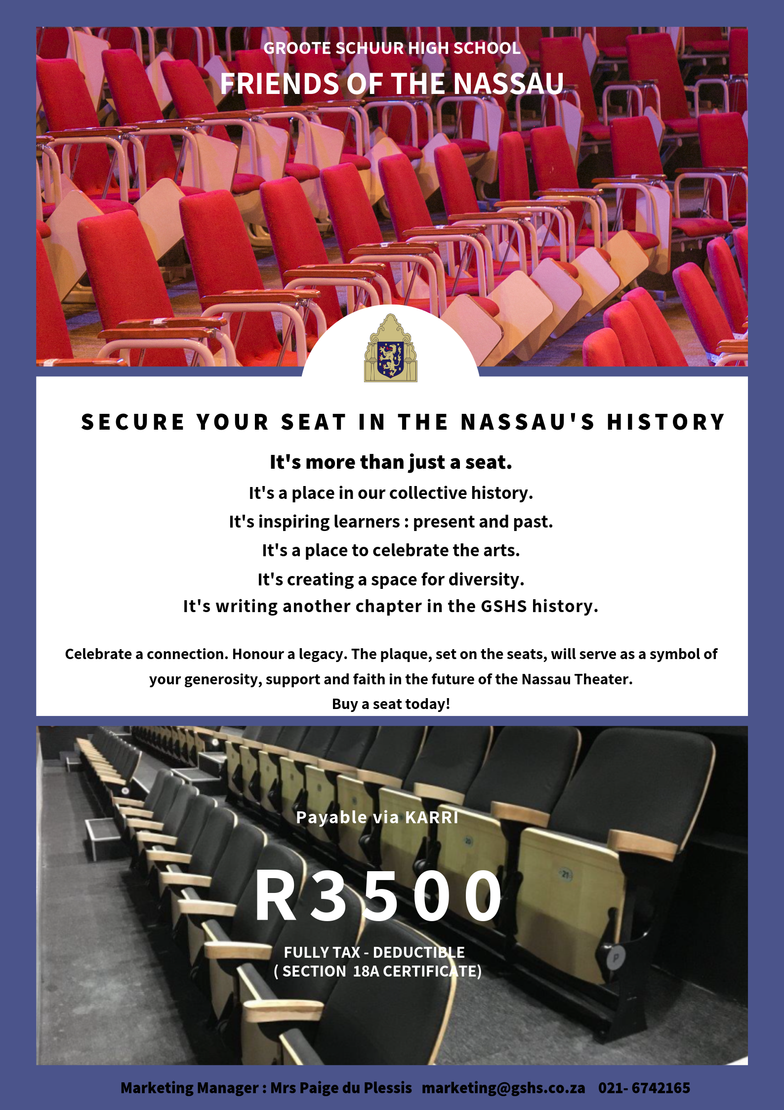 Friends of the Nassau buy-a-seat