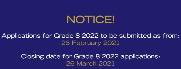Admissions 2022