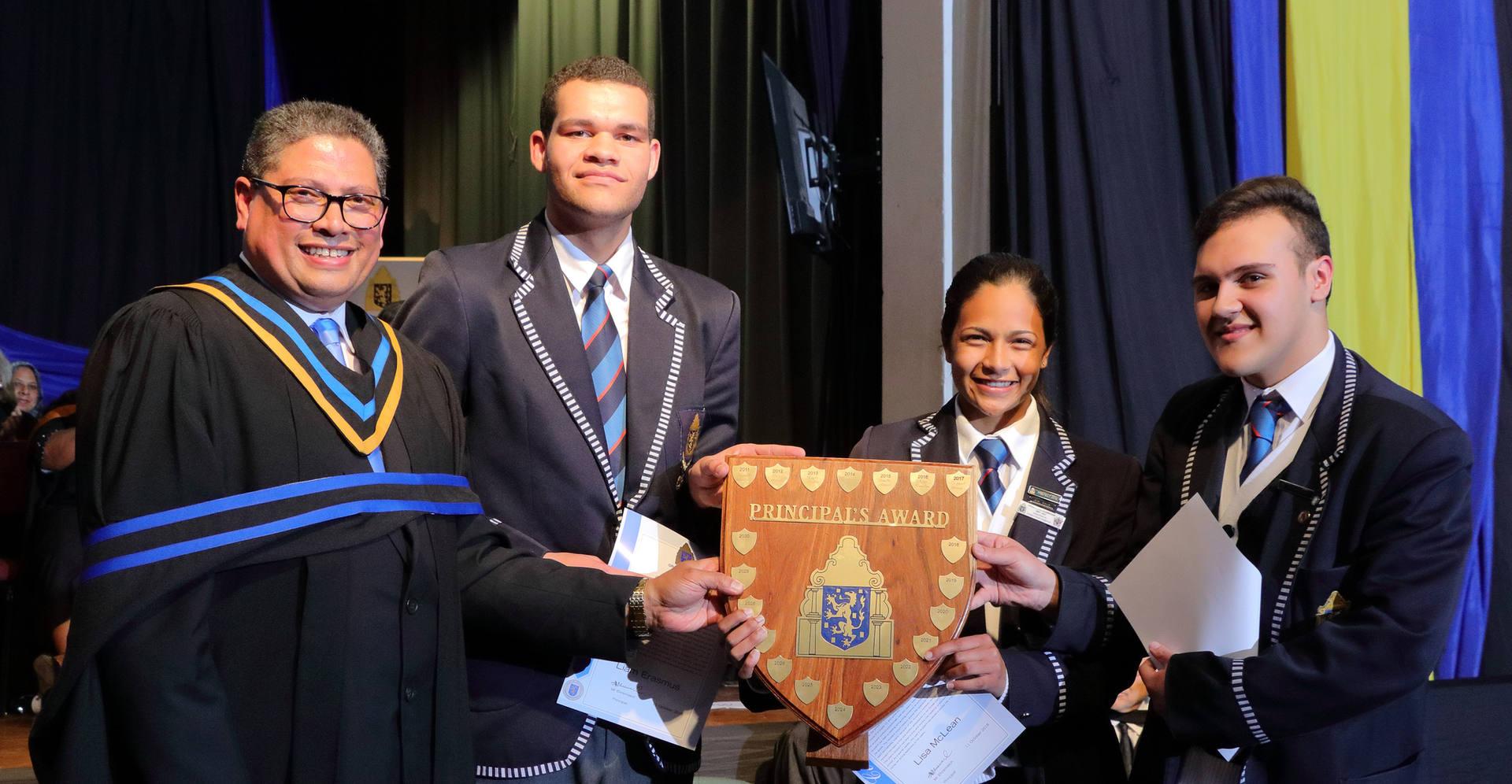 Principal's Award L Erasmus, L Mc Lean a