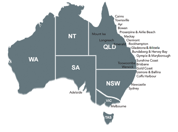 Australia, Town Listing