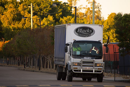 Black Transport Isuzu Truck