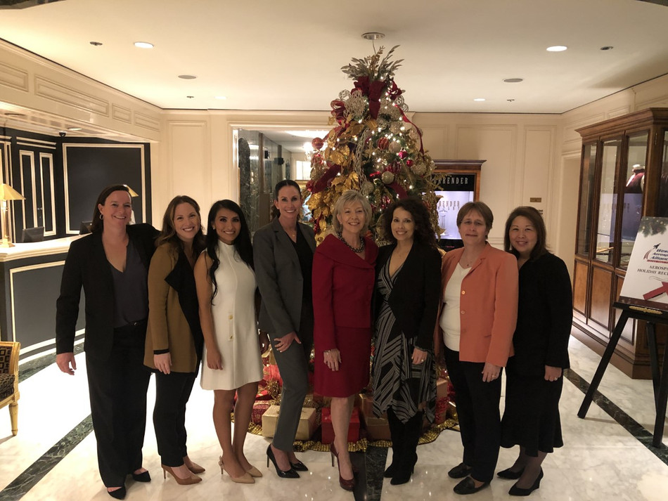 WID-GLAC Past and Present Board Members at the Western Aerospace Alliance Holiday Reception 2019