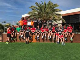 Groes og U-21 landsholdet på La Santa