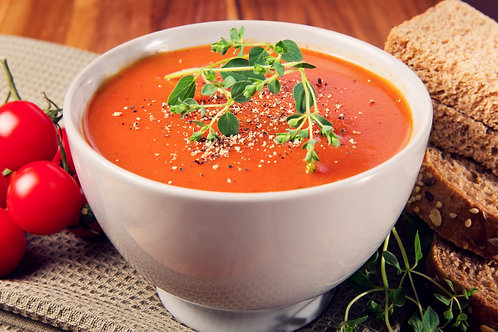 Curried red pepper and tomato soup (sizes available)