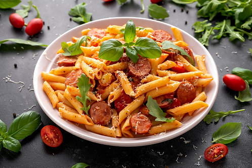 Spicy sausage and pepper penne (individual 500g)