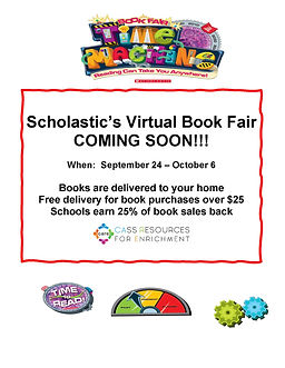 Book Fair--Time Machine Flyer coming soo