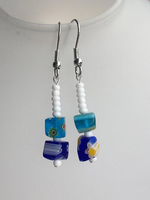 """Blue """"allsorts"""" earrings"""