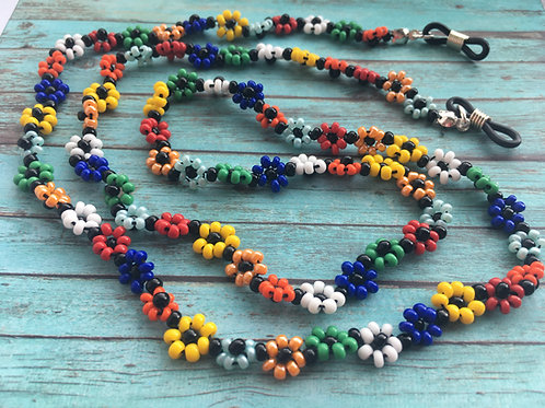beaded flower spectacle chain