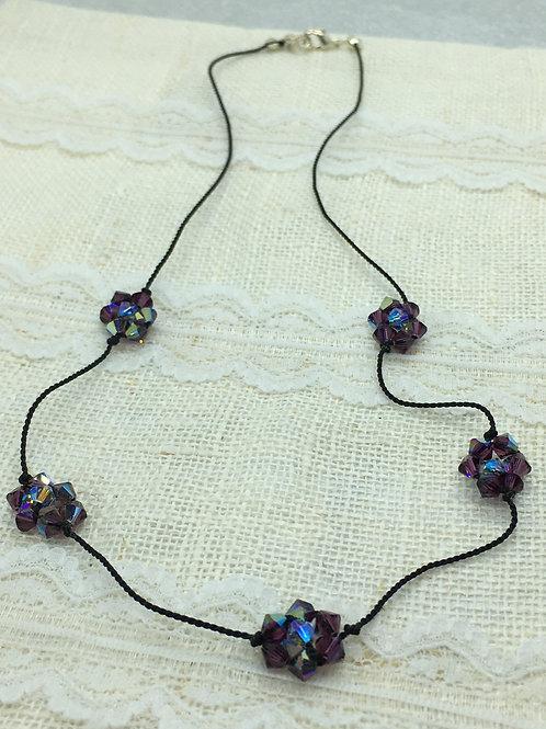 Amethyst crystal flower chain