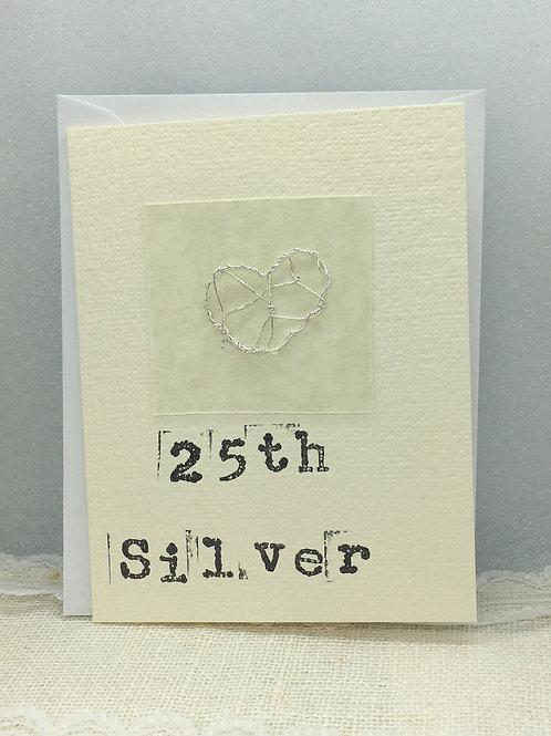25th - Silver Anniversary Card