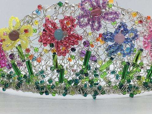 Flower Garden Knitted Tiara