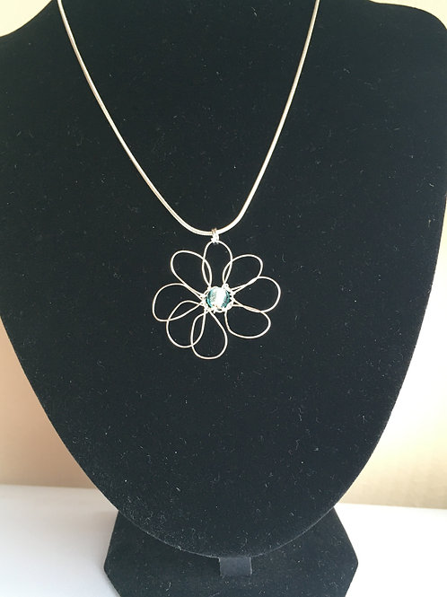 small turquoise daisy