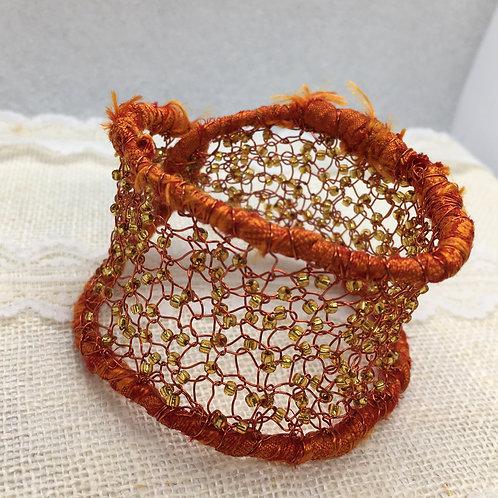 Knitted Orange Cuff