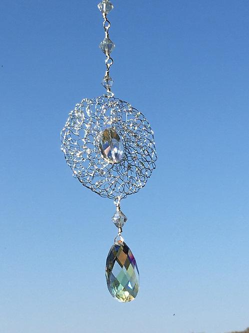 Crocheted Crystal Suncatcher