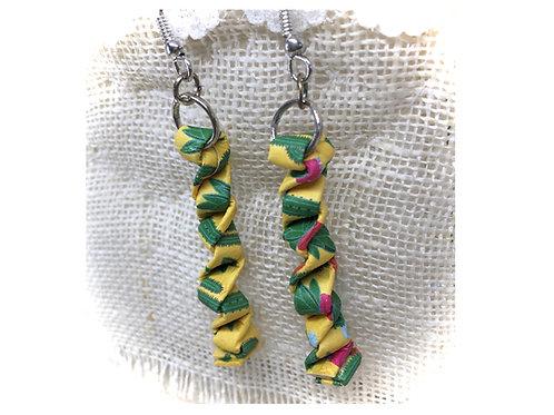 Yellow Fire Cracker Earrings