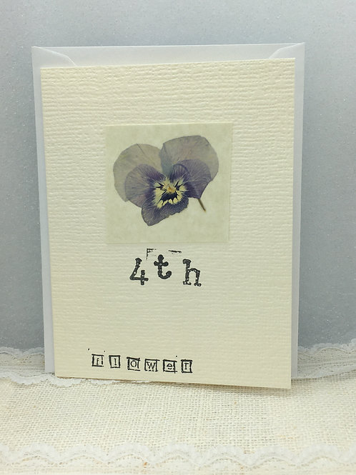 4th - Flower Anniversary Card