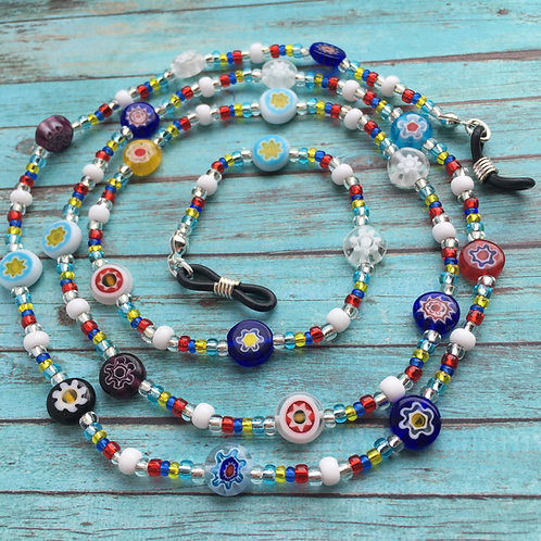 glass bead spectacle chain