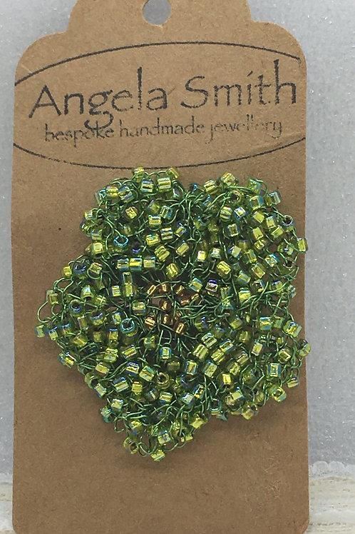 Knitted Green Flower