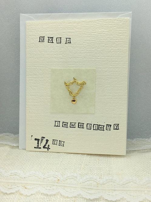 14th - Gold Jewellery Anniversary Card