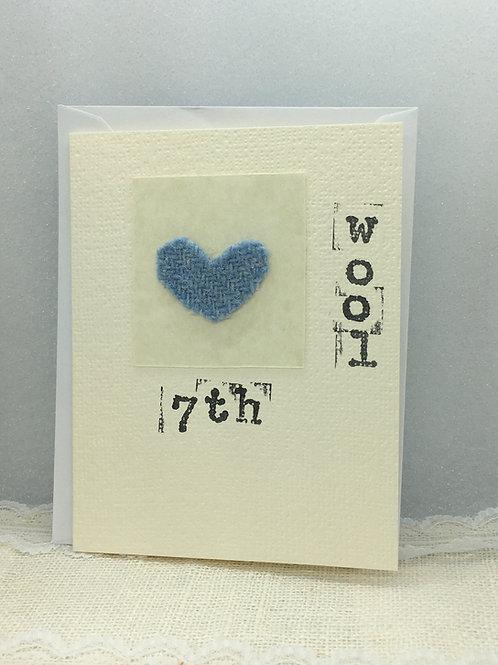 7th - Wool Anniversary Card